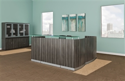 Medina L Shaped Reception Desk