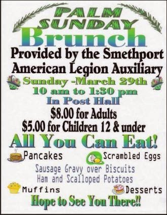 3-29 Palm Sunday Brunch Smethport