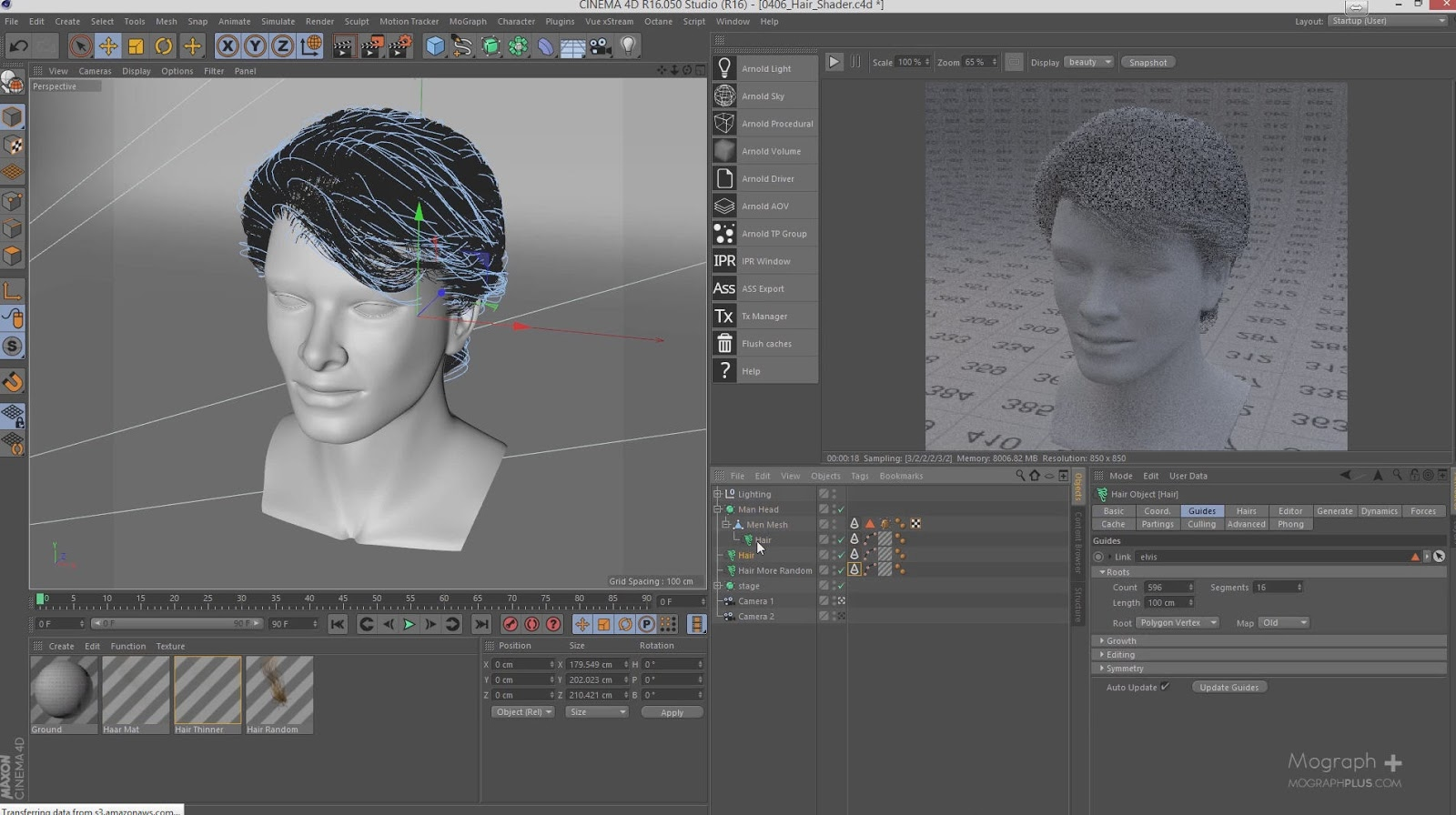 Arnold for cinema 4d hair shader tutorial cg tutorial arnold for cinema 4d hair shader tutorial malvernweather