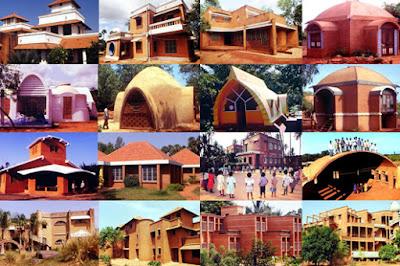 Tipo de viviendas Auroville