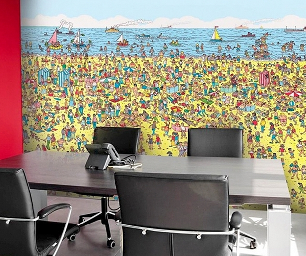 Where's Wally Wall Mural