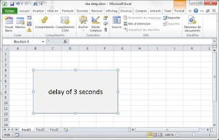 add delay in Excel