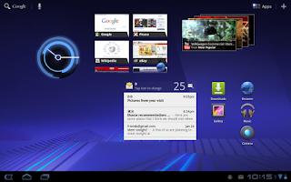 Tampilan Android 3.0 pada Motorola Xoom Tablet