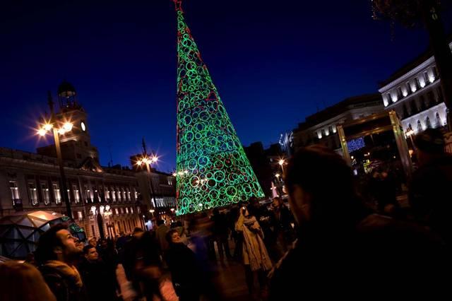 Tree in the Puerta del Sol in Madrid, Spain