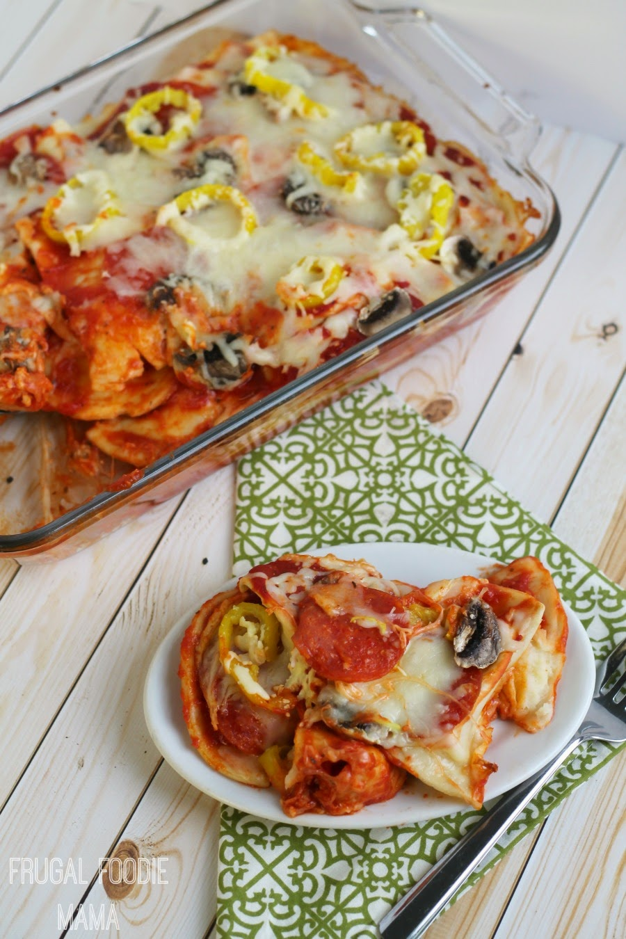 This easy to make Pizza Pierogi Casserole is perfect for a busy weeknight or to bring to a friend in need. Bonus- it freezes well!