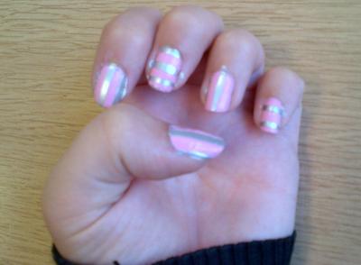 line stripe nail art nicki minaj nail polish