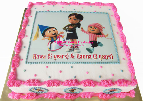 Birthday Cake Edible Image Despicable Me 2 Characters