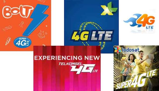 Perbedaan Harga Paket Internet 4G Lima Provider Di Indonesia