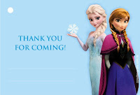 thank you card frozen party