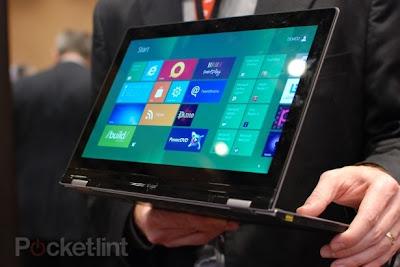 harga lenovo idea pad yoga, spesifikasi lenovo yoga, gambar tablet windows 8 terbaru, gadget unik bisa dilipat 360 derajat