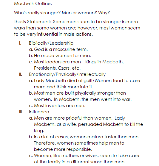 macbeth act 4 questions essay example Questions, essay topics to be used before, during, and after reading the play  suspect, and macbeth is crowned king of scotland (iv) act iii macbeth plans to overturn the witches' prophecy that banquo's sons will become kings by sending two murders to kill  for example, the play may be studied in a.