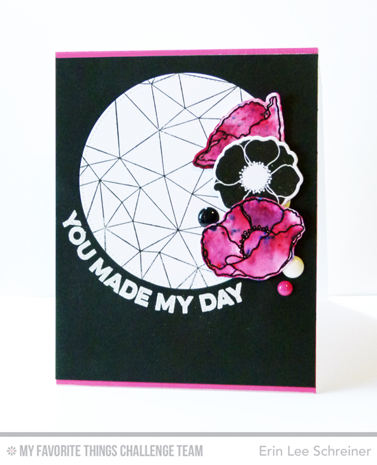 Made My Day Poppies Card by Erin Lee Schreiner featuring the Lisa Johnson Designs Delicate Pretty Poppies stamp set, Wavy Greetings stamp set, and Abstract background stamp #mftstamps