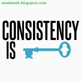 konsistensi ngeblog