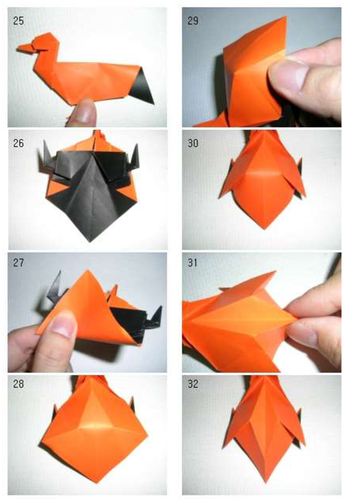 origami duck folding instructions art craft ideas projects