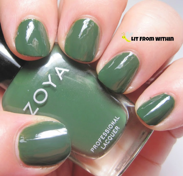 Zoya Hunter, this creamy hunter green
