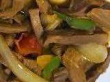lidah masak saus, daging, resep masakan, makanan, minuman, enak