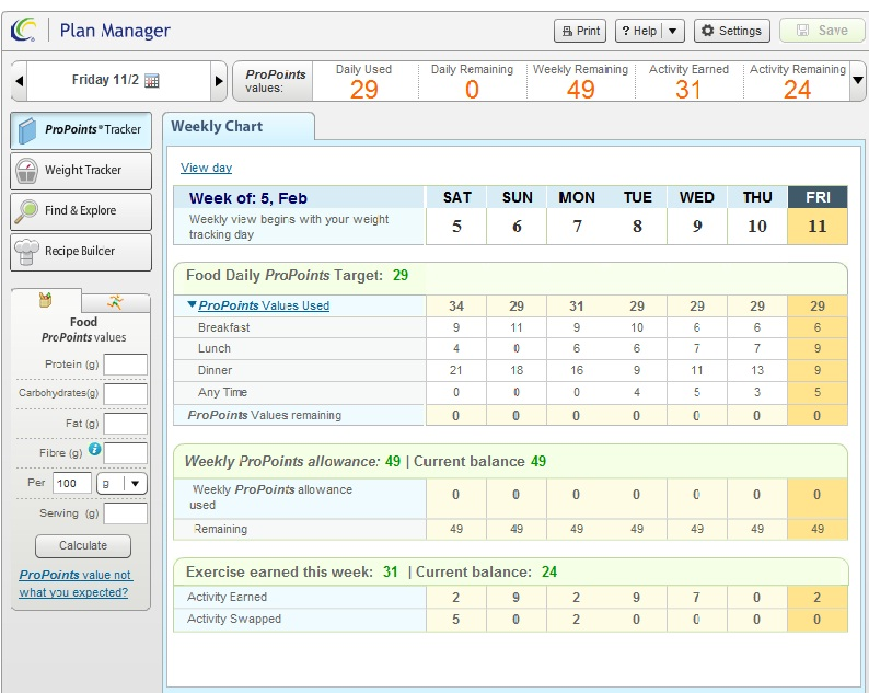 Weight Watchers Food Tracking Sheets http://www.alsfoodandfitness.com/2011/02/weight-watchers-tracking.html