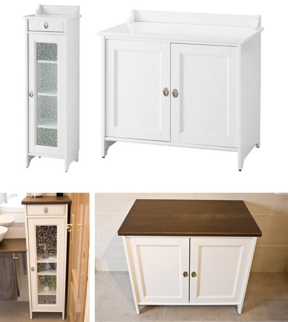 Blootiful muebles de ba o antes y despu s de los for Muebles blancos ikea