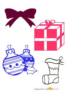 lazos, regalos, bota de navidad