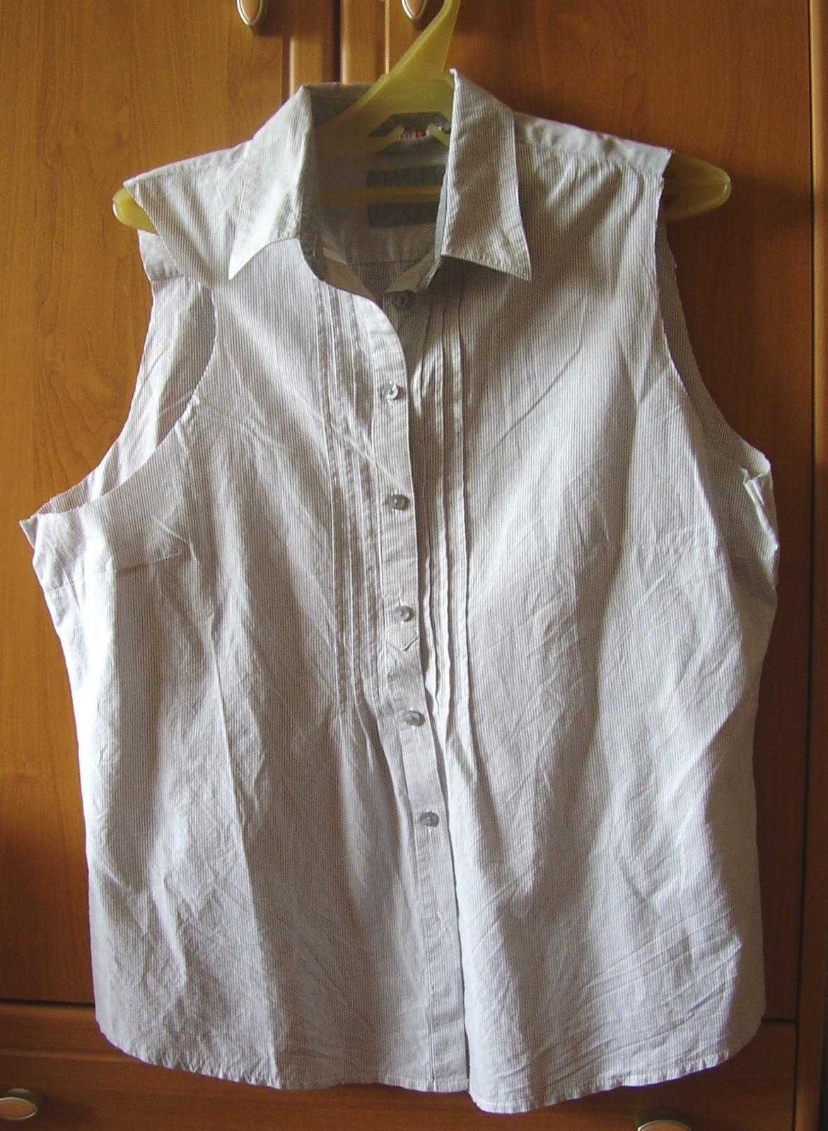 Мужская рубашка переделать в женскую блузку своими руками