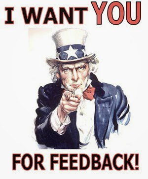 Image: I want you for feedback
