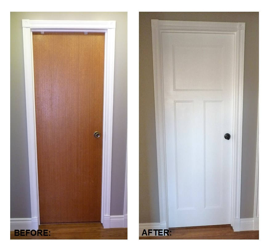 Interior Door Makeover DIY 880 x 813