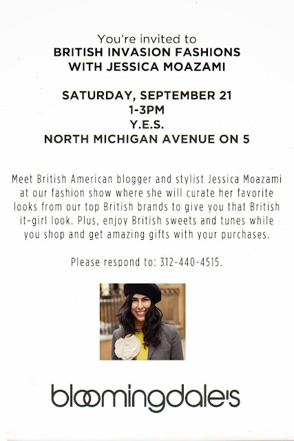 British Invasion at Bloomingdage's styled by Jessica Moazami invite