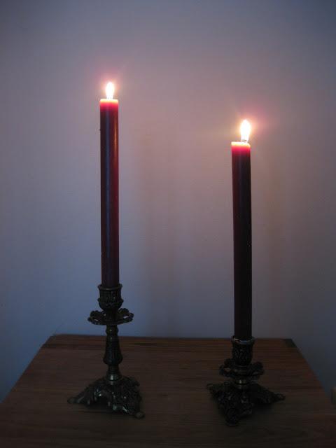 violetit kynttilät sisustus