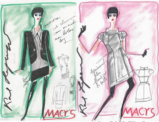 Karl Lagerfeld, Macy's Collection, Karl Lagerfeld Sketches
