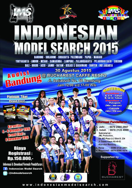 Jadwal Audisi Indonesian Model Search (IMC) 2015