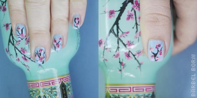 green tea nails
