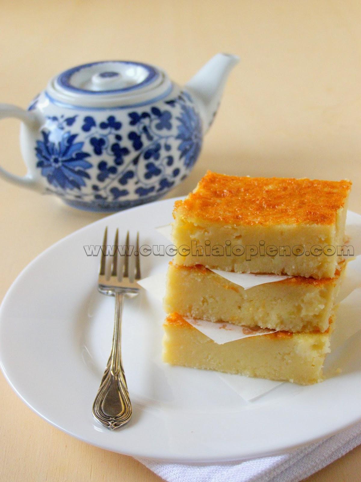 bolo de arroz crú cremoso