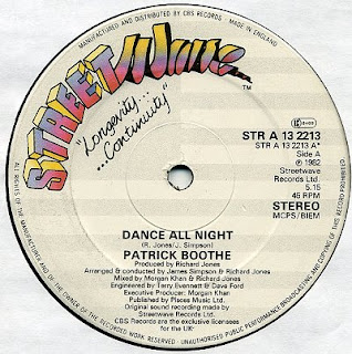 PATRICK BOOTHE  -  Dance All Night 12 Inch 1982