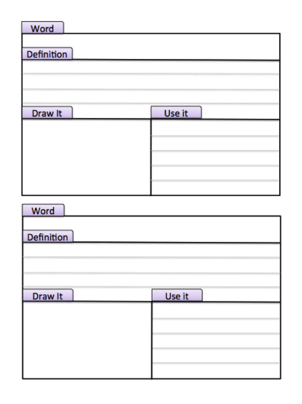 Tabbed index study cards make this page into a for Construction organizer notebook