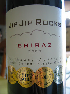 Label photo of 2009 Jip Jip Rocks Shiraz from Australia