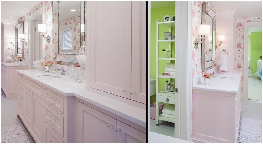 Id es de salle de bain pour les enfants d cor de maison for Salle de bain fille