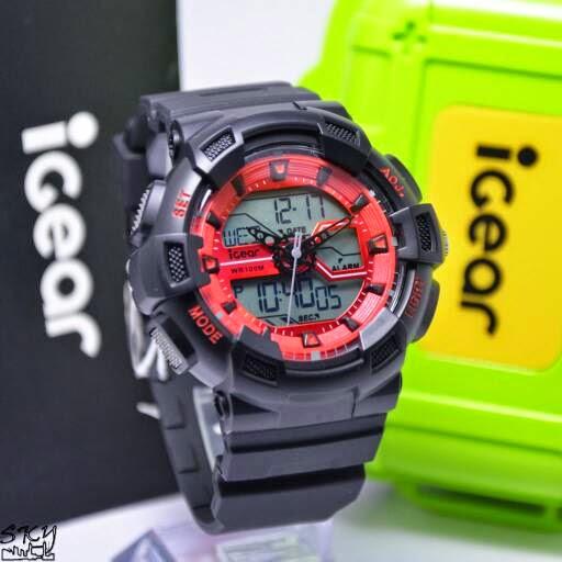 I GEAR I02 Original hitam merah
