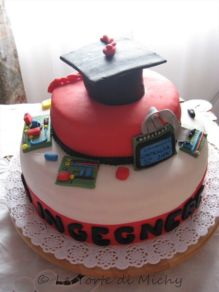 Torta Laurea Ingegneria Elettronica - Le Torte di Michy eea289a8e18f