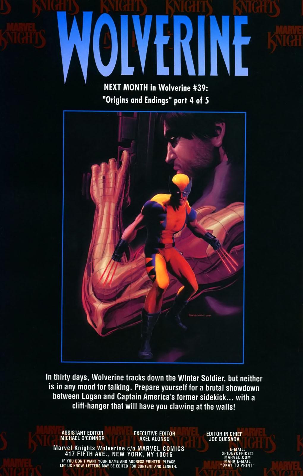 Read online Wolverine (2003) comic -  Issue #38 - 24