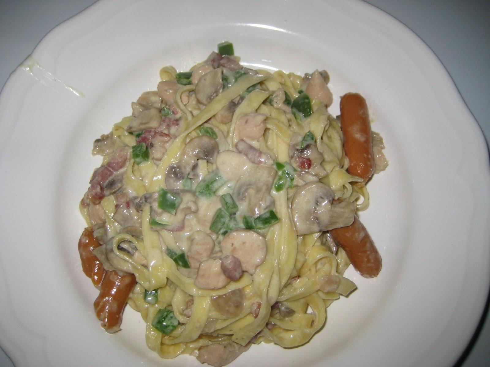 frisk pasta med flødesovs