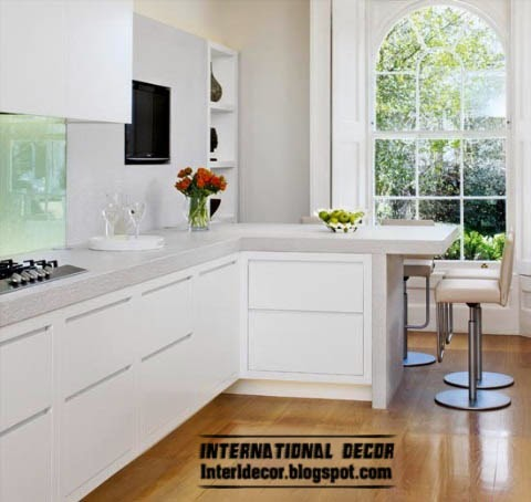 l-shaped kitchen designs, simple white kitchen