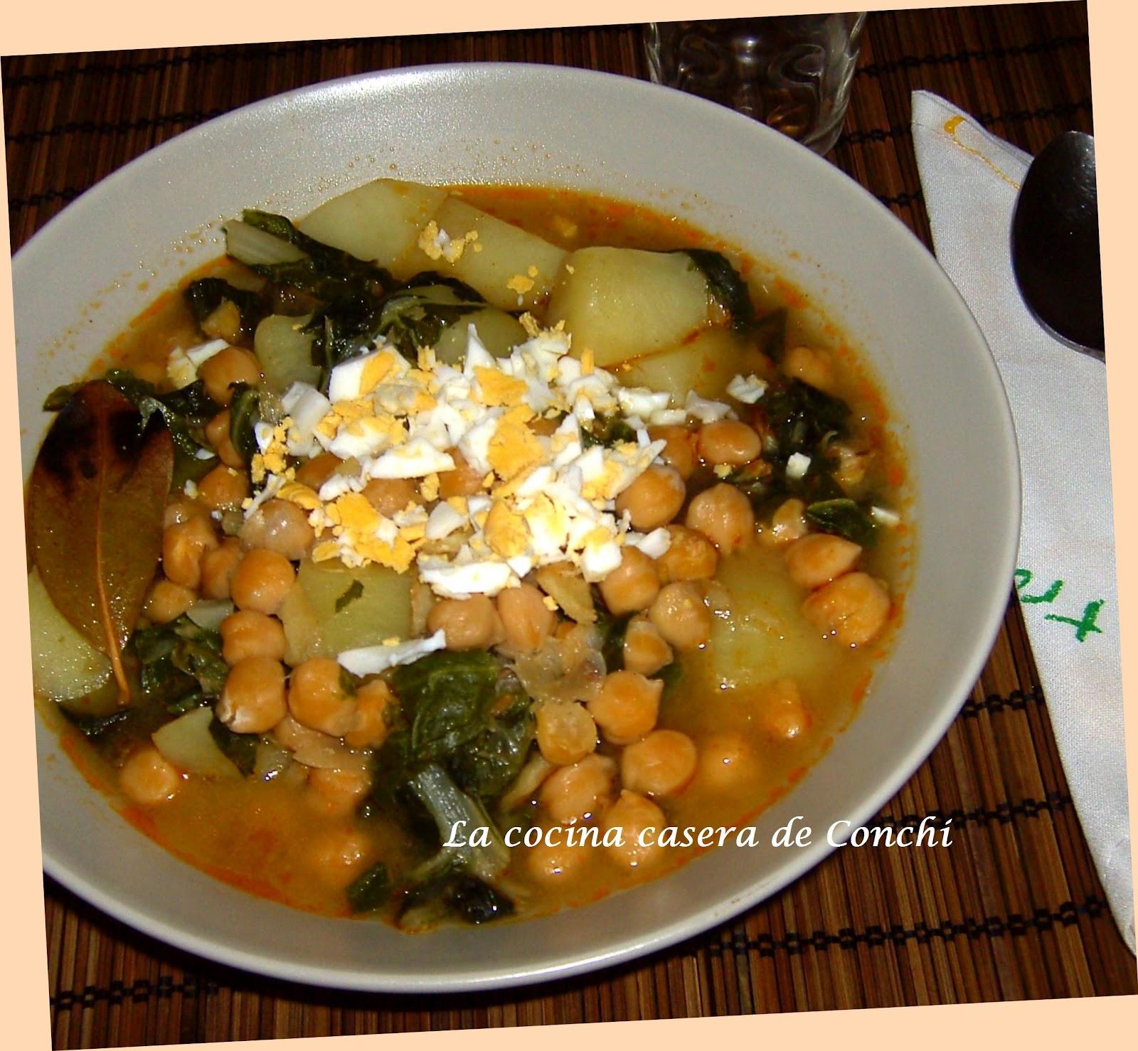 La cocina casera de conchi potaje de garbanzos con bacalao - Potaje de garbanzos con bacalao ...