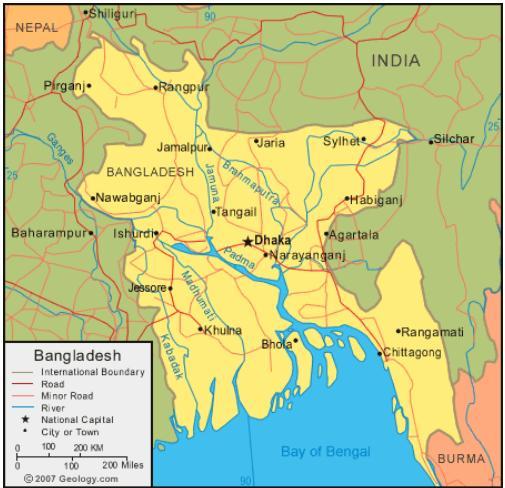 Beautiful Bangladesh Bangladesh Map