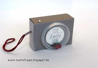 Seifenschachtel Geschenkverpackung Kamera mit Stampin Up recycle