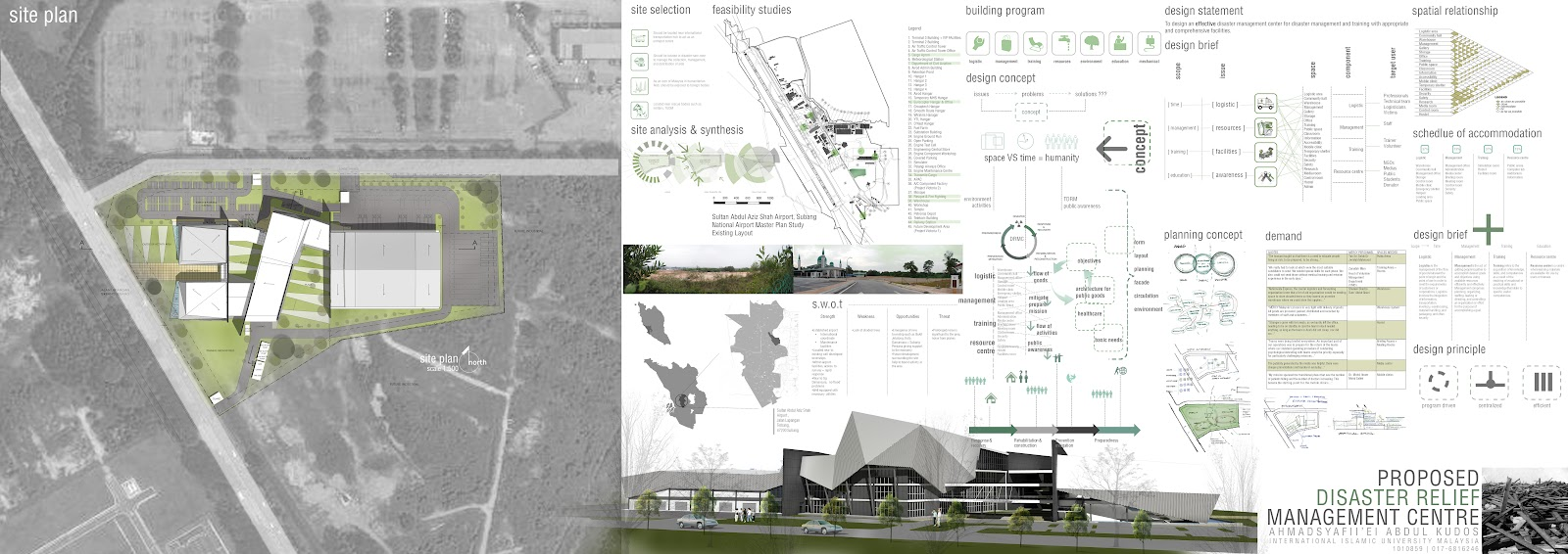 Architecture Design Thesis piei's portfolio: proposed disaster relief management centre