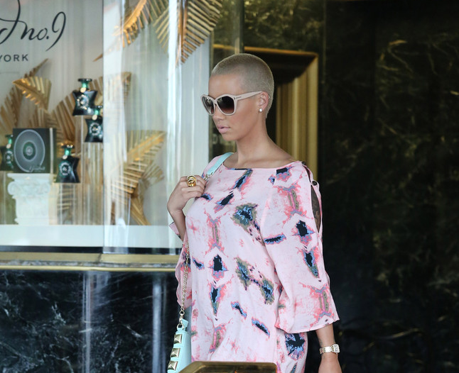 amber rose printed mini dress
