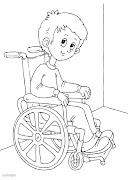 Dibujos de niños discapacitados para colorear plantilla colorear recortar discapacitado