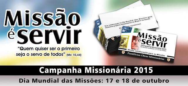 É dia de oração e solidariedade... É Dia Mundial das Missões!