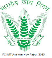 FCI MT Answer Key 2015 Paper
