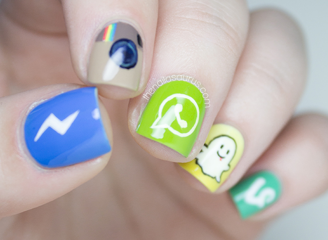 Social Media Apps Nail Art - The Nailasaurus | UK Nail Art Blog